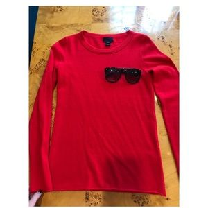 J.Crew 100% cashmere red sweater size XS